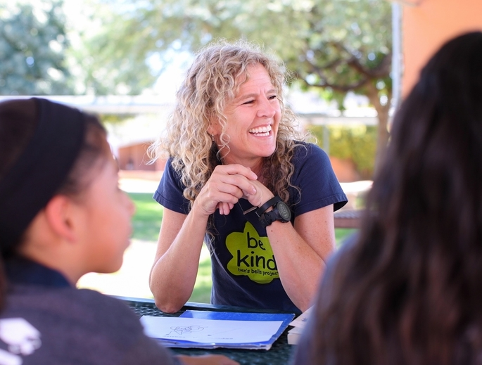 University of Arizona alumna and former faculty member Jeannette Maré founded Ben's Bells in 2003. This year, she reduced her hours with the nonprofit to return to school and study kindness in the Department of Communication. (Photo courtesy of Ben's Bells)