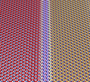 Graphene trilayers can be stacked in two different configurations, which can occur naturally in the same flake. They are separated by a sharp boundary. (Image: Pablo San-Jose ICMM-CSIC)