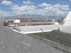 A rendition of the north end zone expansion project from the west grandstand. The regents on Friday gave the project their approval.