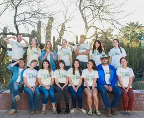 The undergraduate and graduate student members of Compost Cats provide a composting service to Tucson businesses and the greater Tucson community. (Photo: James Garlant)