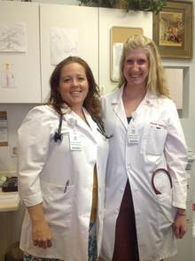 Chandra Tontsch (right) serving in Lakeside, AZ with Dr. Elizabeth Bierer (left) in family medicine practice. (Photo Credit: Chandra Tontsch)