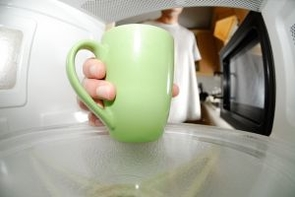 Microwave door handles are among the dirtiest places in office kitchens and break rooms, a new study has found.