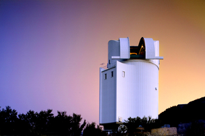 Vintage workhorse: Dedicated in 1969 and named after Bart Bok, who was director of the UA's Steward Observatory at the time, the UA's Bok Telescope has pointed its 90-inch primary mirror at the skies every night except Christmas Eve and a maintenance period during the summer rainy season. (Image courtesy of Steward Observatory)