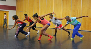 New students in the UA's School of Dance perform a piece choreographed by graduate student Rodni Williams. The school is highly competitive and top-ranking, with some members consistently performing nationally and internationally. (Photo credit: Beatriz Verdugo/UANews)