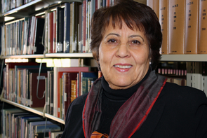 Atifa R. Rawan, a UA librarian who was born and raised in Afghanistan, started helping academic libraries in her native country in April 2001. Rawan said her work would not be possible without the visionary support of UA Libraries Dean Carla Stoffle and her colleagues' support at UA. (Photo credit: Beatriz Verdugo/UANews)
