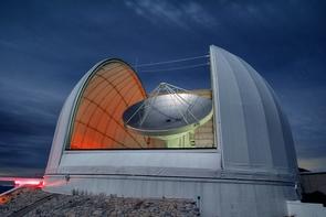 The 12-meter radio telescope dish on Kitt Peak. (Photo: Thomas Folkers, Arizona Radio Observatory)