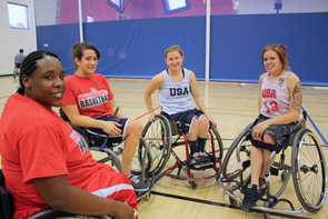 Wheelchair basketball is played in accordance with National Collegiate Athletic Association rules and regultions, with a limited number of exceptions. (Photo credit: Beatriz Verdugo/UANews)