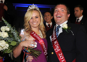 Last year's Homecoming queen Kaitlin Simpson and king Dane Denby. (Photo by Norma Jean Gargasz/UANews)