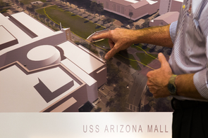 The USS Arizona Mall Memorial will provide information about the attack on Pearl Harbor, including the USS Arizona. (Photo: Ernesto Trejo/UANews)