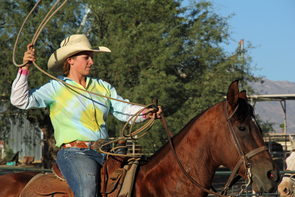 Competing members of the UA Rodeo Club participate in a range of events, including team roping, barrel racing and saddle bronc riding. (Photo by Beatriz Verdugo/UANews)