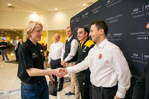 Schreiber with INFINITI Engineering Academy leaders. (Photo courtesy of INFINITI Engineering Academy)