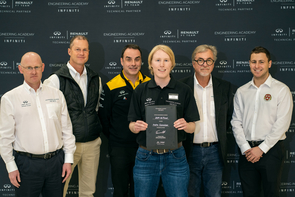 Schreiber was the youngest of the 10 finalists. (Photo courtesy of INFINITI Engineering Academy)