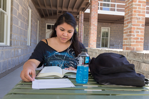 After earning her degree from the UA, Cheyenne Yazzie (Navajo) intends to enlist and make a career of military service. (Photo: Beatriz Verdugo/UANews)