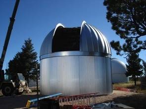 The Catalina Sky Survey is adding a new 1-meter, or 40-inch, telescope that will be used to follow-up NEO sitings. The telescope will be housed in this 22-foot dome built at Steward Observatory's Mount Lemmon site and should become operational this summer.