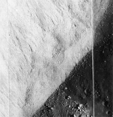 Deposition apron in the moon's crater Dawes (NASA photo)