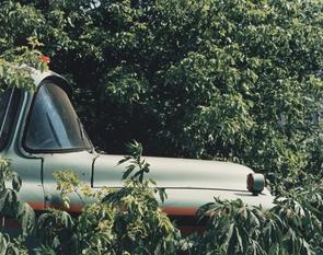 Small Farm and Vehicle Junkyard near Hampshire, Illinois, 1991 (Courtesy of the Arthur J. Bell Trust)