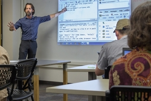 "Jeffrey Oliver teaches workshops and gives ""Tech Talks"" to help people outside of computer science learn how to use computers as tools for research."