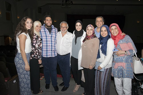 Mariam Astarabadi celebrating with family. (Photo credit: Mark Thaler/UAHS BioCommunications)