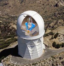 The DESI instrument was installed in the dome of the Mayall Telescope on Kitt Peak near Tucson, Arizona. (Image: DESI Collaboration)