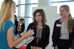 Students involved in the Honors Project Showcase are members of a management and information systems course at the UA's Eller College of Management. Some are now attempting to turn their conceptual ideas into practical applications on and around campus.