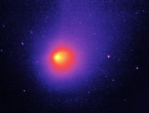 """In Oct. 2019, UArizona researchers studying comets such as 29P/Schwassmann-Wachmann (seen here by the Spitzer Space Telescope) discovered a region just beyond Jupiter that acts as a """"cradle of comets,"""" funneling icy bodies from deep space into the inner solar system, where they can become regular visitors of Earth's neighborhood.  (Image: NASA)"""
