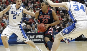 The UA's Derrick Williams scored a career-high 32 points against Duke. (Photo courtesy of Arizona Athletics)