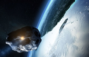 When an asteroid comes into the Earth's atmosphere, the first hint of impact is a blinding flash and then an enormous, deafening blast.