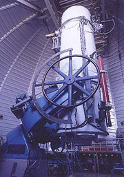 Interior view of the 0.9-meter (36-inch) Spacewatch telescope on Kitt Peak, Ariz. (Photo: Jim Scotti)