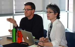 UA researchers Stephen T. Russell and Adela Licona co-facilitate the UA's Ford Foundation-funded Crossroads Collaborative, an initiative designed to train students to be sexuality scholars while involving community-based organizations. (Photo by Beatriz Verdugo/UANews)