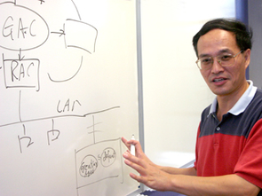 """Professor Fei-Yue Wang explains how household appliances can be controlled by """"smart control agents."""""""