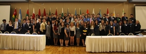 Each year, the Arizona Model United Nations club organizes a professional conference geared toward high school students from the U.S. and Mexico. For its work, the organization was recognized by the Clinton Global Initiative University in 2011. (Photo courtesy of Arizona Model United Nations)
