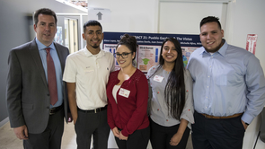 Sociology professor Brian Mayer (far left) with students in his Poverty in Tucson Field Workshop.