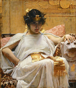 """One of Shakespeare's famous female characters, """"Cleopatra,"""" by John William Waterhouse"""