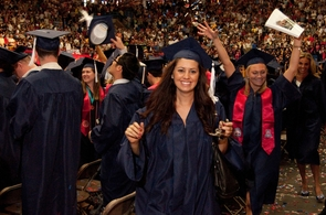 More than 4,000 undergraduate degrees will be conferred during the UA's Spring Commencement ceremonies. The ceremony for master's and doctoral students will be held on May 11 at 7:30 p.m., and the ceremony for undergraduate students will be held on May 12 at 9 a.m. (Photo credit: Patrick McArdle/UANews)