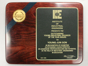 The Outstanding Young Industrial Engineer Award.