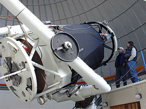Operating several telescopes in the Northern and Southern Hemispheres, the UA Catalina Sky Survey has discovered more asteroids than any other such program. Shown here is the  60-inch telescope atop Mt. Lemmon just north of Tucson, Ariz. (Photo: Catalina Sky Survey)