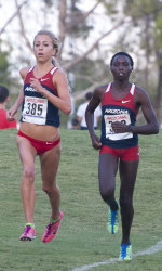 Jen Bergman and Elvin Kibet (Photo courtesy of Arizona Athletics)