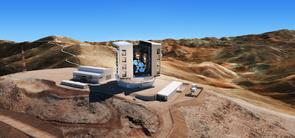 The latest design of the enclosure, telescope and site at Las Campanas Observatory in Chile. (Image: M3 Engineering)