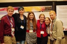 The team presented its data, which was some of the best ever seen for exoplanet studies, at the 219th American Astronomical Society meeting in Austin, Texas, in January. From left: Kevin Hardegree-Ullman, Allison McGraw, Lindsay Small, Allison Towner, Mandy Walker-LaFollette and Jake Turner. (Photo by Jake Turner)