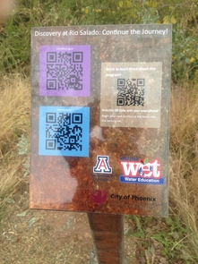 The program includes QR-coded signs that feature questions, information and photos.