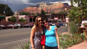 Feldman and her mother, Elayne Feldman, during a trip to Sedona, Arizona