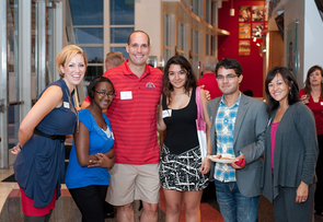 Alumni from as far away as New York and as close as Tucson network with Student Alumni Ambassadors. (Photo: Jacob Chinn)