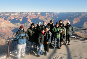 A group of visiting students from Australia took a trip to the Grand Canyon while in Arizona participating in the UA's Indigenous Governance Certificate program. (Photo courtesy of Melissa Tatum)