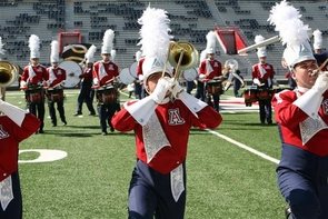 While UA marching band performances of the past had a more militaristic style, today's shows include more dancelike movements and theatrical flair.