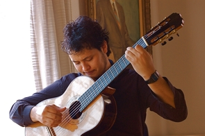 Jesus Misael Barraza-Diaz will be presenting his research on flamenco influences in Spanish classical guitar music. Students can delve into anything they are passionate about, such as laboratory research in the sciences or performances in the fine arts. (Photo credit: David Scott Allen)