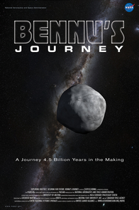 "A poster for the OSIRIS-REx movie, ""Bennu's Journey""  (Image: NASA's Goddard Space Flight Center Conceptual Image Lab)"
