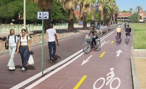 Parking & Transportation Services has been working with the Pima Association of Governments to come up with a feasible walking and biking plan for the UA campus to improve safety.