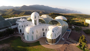 The Biosphere 2 complex is a unique, large-scale experimental research facility housing seven simulated ecosystems.