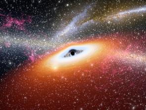 Artist's conception of a primitive supermassive black hole