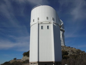 The Bok Telescope on Kitt Peak is the largest telescope operated solely by the UA's Steward Observatory. Named in honor of Bart Bok, who was Steward's director from 1966-1969, the telescope operates every night of the year except Christmas Eve and a maintenance period scheduled during the summer rainy season. (Image: Wikimedia Commons)